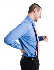 Man suffering from chonic low back pain